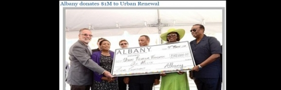ALBANY DEVELOPEMENT DONATES 1MILLION TO URBAL RENEWAL FOUNDATION